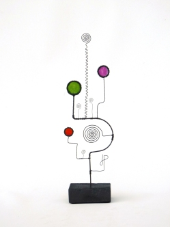Prayer Machine 292. My Soul Must Sing - Wire Sculpture by James Paterson. Ontario, Canada