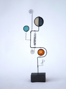 Prayer Machine 293. From The Known To The Unknown - Wire Sculpture by James Paterson. Ontario, Canada