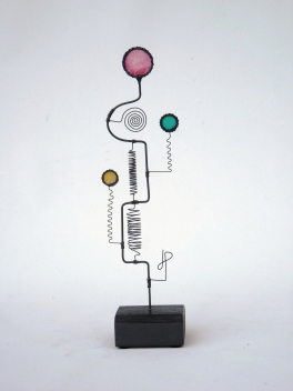 Prayer Machine 294 S 3/4. I Will Follow You - Wire Sculpture by James Paterson. Ontario, Canada