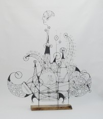 050. AS I DANCE ON THIS TIGHTROPE I BELIEVE IN THE ASSURANCE OF THINGS TO COME - A Prayer Machine by JAMES PATERSON. (SOLD at Spectrum Miami 2014)