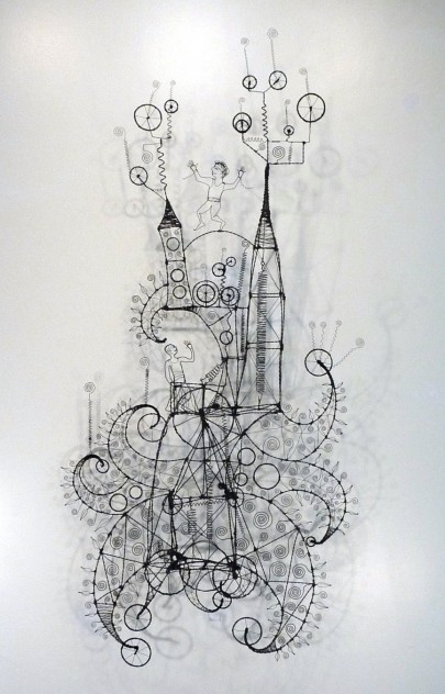 054. WHEN I REALLY PRAY IT'S LIKE DANCING ON A TIGHT ROPE - A Prayer Machine by JAMES PATERSON (SOLD at Artexpo NY 2015)
