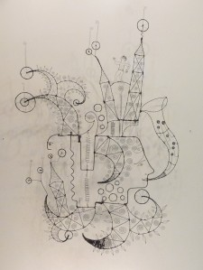Prayer Machine 065. The Music Of My Soul Plays To My Desires - Wire Sculpture by James Paterson, Ontario, Canada
