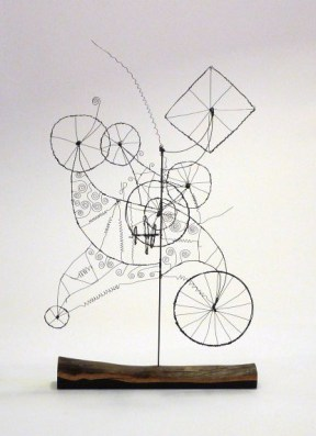 "#098. Wheels, In Wheels, In Wheels-A Prayer Machine by James Paterson 31.5"" x 18.5"" x 14"""