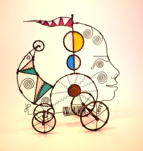 Prayer Machine 246. You Are Like Another Blip Of Joy In My Life - Wire Sculpture by James Paterson, Ontario, Canada