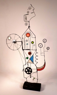 Prayer Machine 286. The Only Way To Change Is To Create - Wire sculpture by James Paterson, Ontario, Canada