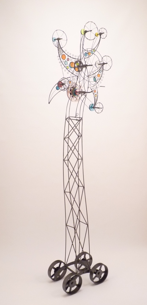 Prayer Machine 130. This Harmony That Manifests Itself Above Me - Wire Sculpture by James Paterson, Ontario, Canada