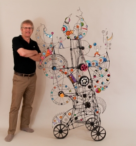 Prayer Machine 251. In My Dreams All The Places Are Bigger -Wire Sculpture by James Paterson, Ontario, Canada