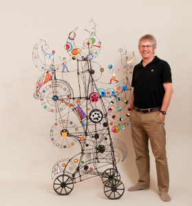 Prayer Machine 251. In My Dreams All The Places Are Bigger - Wire Sculpture by James Paterson, Ontario, Canada