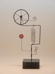 Prayer Machine 202. Spirit and Matter - Wire Sculpture by James Paterson. Ontario, Canada