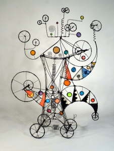 Prayer Machine 210. Can It Be That The Edges Of Time Are Soft? - Wire Sculpture by James Paterson, Ontario, Canada