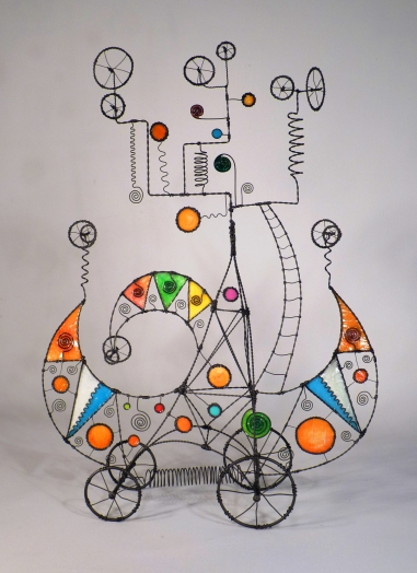 Prayer Machine 216. Why Should I Disbelieve Things I Can't Explain? - Wire Sculpture by James Paterson, Ontario, Canada