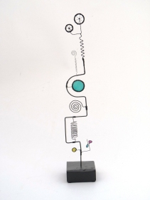 Prayer Machine 263. And Giving Thanks - Wire Sculpture by James Paterson, Ontario, Canada