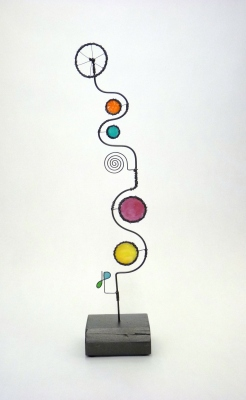 Prayer Machine 268. Overwhelmed By Joy - Wire Sculpture by James Paterson, Ontario, Canada