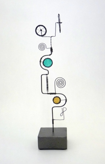 Prayer Machine 271. Truth Is Not Complex - Wire Sculpture by James Paterson, Ontario, Canada