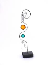 Prayer Machine 274. Prayer Is Quite Simply Rest - Wire Sculpture by James Paterson. Ontario, Canada