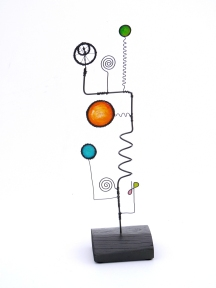 Prayer Machine 276. Do You Trust Silence? - Wire Sculpture by James Paterson. Ontario, Canada