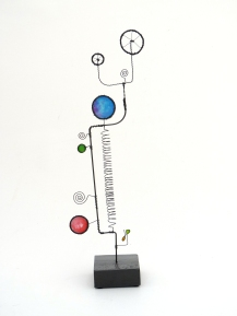 Prayer Machine 277. In Solitude - Wire Sculpture by James Paterson, Ontario, Canada