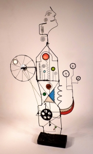 Prayer Machine 286. The Only Way to Change Is To Create - Wire Sculpture by James Paterson. Ontario, Canda