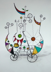 Prayer Machine 302. I Shine In Your Glory - Wire Sculpture by James Paterson, Ontario, Canada
