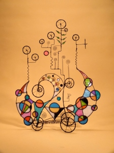 337. This Is A Bouquet Of Wonder - A Prayer Machine by James Paterson. 22 x 17.5 x 5 in