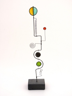 Prayer Machine 272 S 1-4. The Art Of Prayer Is To Listen - Wire Sculpture by James Paterson, Ontario, Canada