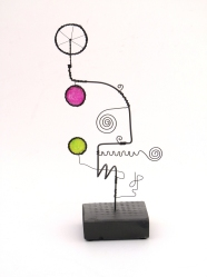 Prayer Machine 278 S 1/4. I'm In The Flow - Wire Sculpture by James Paterson, Ontario, Canada