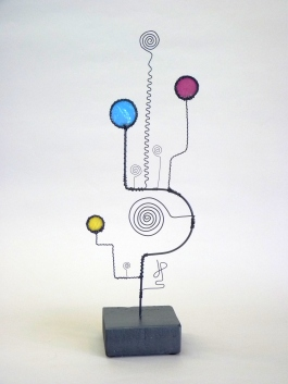 Prayer Machine 292 S 2/4. My Soul Must Sing - Wire Sculpture by James Paterson. Ontario, Canada