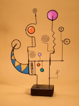 Prayer machine 321. Does There Need To Be A Change? - Wire Sculpture by James Paterson, Ontario, Canada