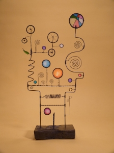 Prayer Machine 336. I Want Reality Not Ritual - Wire Sculpture by James Paterson, Ontario, Canada