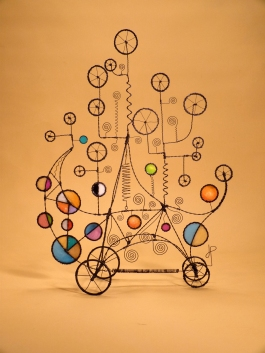 Prayer Machine 338. This Is A Bouquet Of Delight - Wire Sculpture by James Paterson, Ontario, Canada