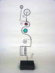 Prayer Machine 238 S 1/4. Light Is Life - Wire Sculpture by James Paterson. Ontario, Canada