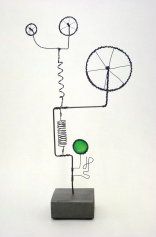 Prayer Machine 269 S 3/4. I'm Saying Yes - Wire Sculpture by James Paterson. Ontario, Canada