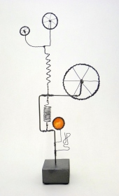 Prayer Machine 269 S 4/4. I'm Saying Yes - Wire Sculpture by James Paterson. Ontario, Canada