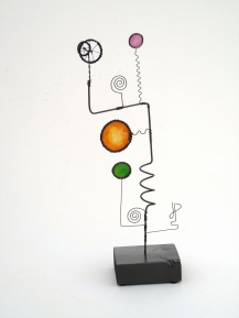 Prayer Machine 276 S 2/4. Do You Trust Silence? - Wire Sculpture by James Paterson. Ontario, Canada