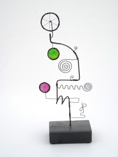 Prayer Machine 278 S 2-4. I'm In The Flow - Wire Sculpture by James Paterson, Ontario, Canada