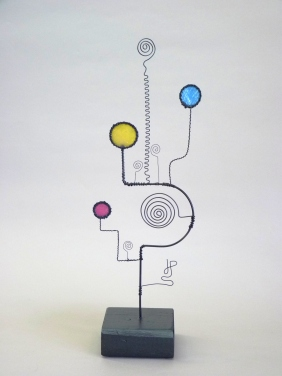 Prayer Machine 292 S 1/4. My Soul Must Sing - Wire Sculpture by James Paterson. Ontario, Canada
