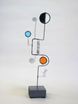 Prayer Machine 293 S 1/4. I'm Known - Wire Sculpture by James Paterson. Ontario, Canada