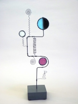 Prayer Machine 293 S 4/4. I'm Known - Wire Sculpture by James Paterson. Ontario, Canada