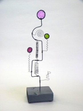 Prayer Machine 294 S 1/4. I Will Follow You - Wire Sculpture by James Paterson