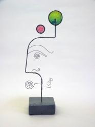 Prayer Machine 334 S 4/4. Joy - Wire Sculpture by James Paterson. Ontario, Canada