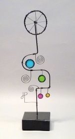 Prayer Machine 402 S 2/5. I Live Slowly - Wire Sculpture by James Paterson, Ontario, Canada