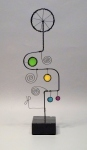Prayer Machine 402 S 5/5. I Live Slowly - Wire Sculpture by James Paterson, Ontario, Canada
