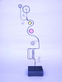 Prayer Machine 239 S 2/4. Light Is Life - Wire Sculpture by James Paterson. Ontario, Canada