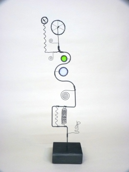 Prayer Machine 239 S 4/4. Light Is Life - Wire Sculpture by James Paterson. Ontario, Canada