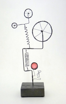 Prayer Machine 269 S 2/4. I'm Saying Yes - Wire Sculpture by James Paterson. Ontario, Canada