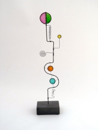 Prayer Machine 272 S 3/4 The Art Of Prayer Is To Listen - Wire Sculpture by James Paterson, Ontario, Canada