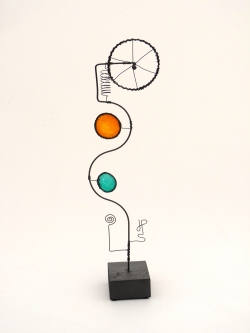 Prayer Machine 274 S 3/4. Prayer Is Quite Simply Rest - Wire Sculpture by James Paterson. Ontario, Canada