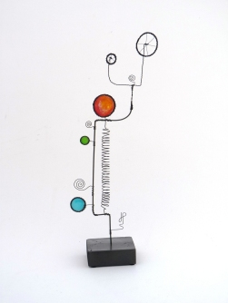 Prayer Machine 277 S 2/4. In Solitude - Wire Sculpture by James Paterson, Ontario, Canada