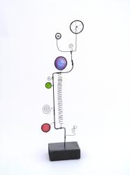 Prayer Machine 277 S 3/4. In Solitude - Wire Sculpture by James Paterson, Ontario, Canada