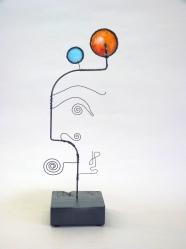 Prayer Machine 334 S 2/4. Joy - Wire Sculpture by James Paterson. Ontario, Canada